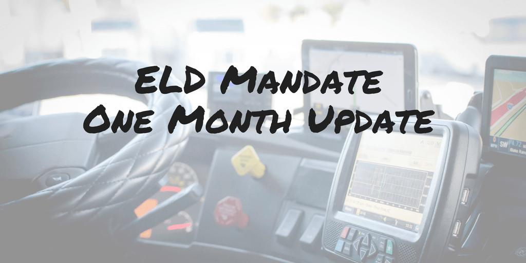 ELD Mandate – One Month Update