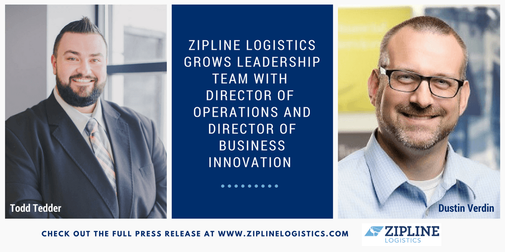 Zipline Logistics Grows Leadership Team with Director of Operations and Director of Business Innovation
