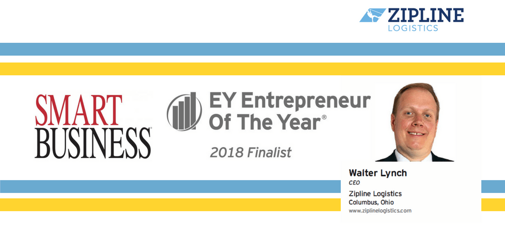 2018 EY Entrepreneur of the Year Finalist, Walter Lynch of Zipline Logistics