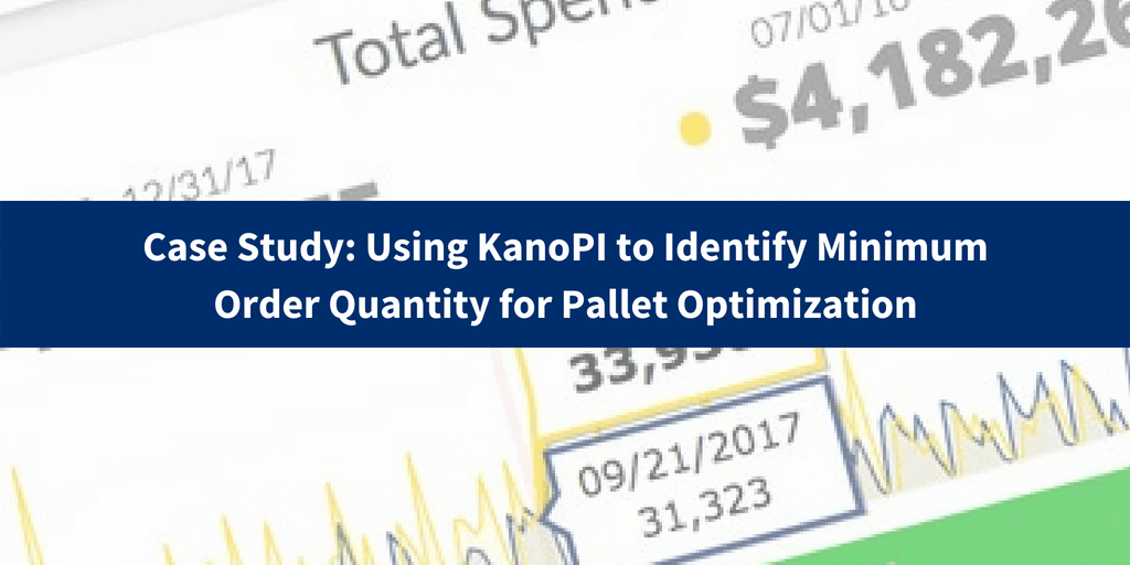 Minimum Order Quantity for Pallet Optimization; Case Study