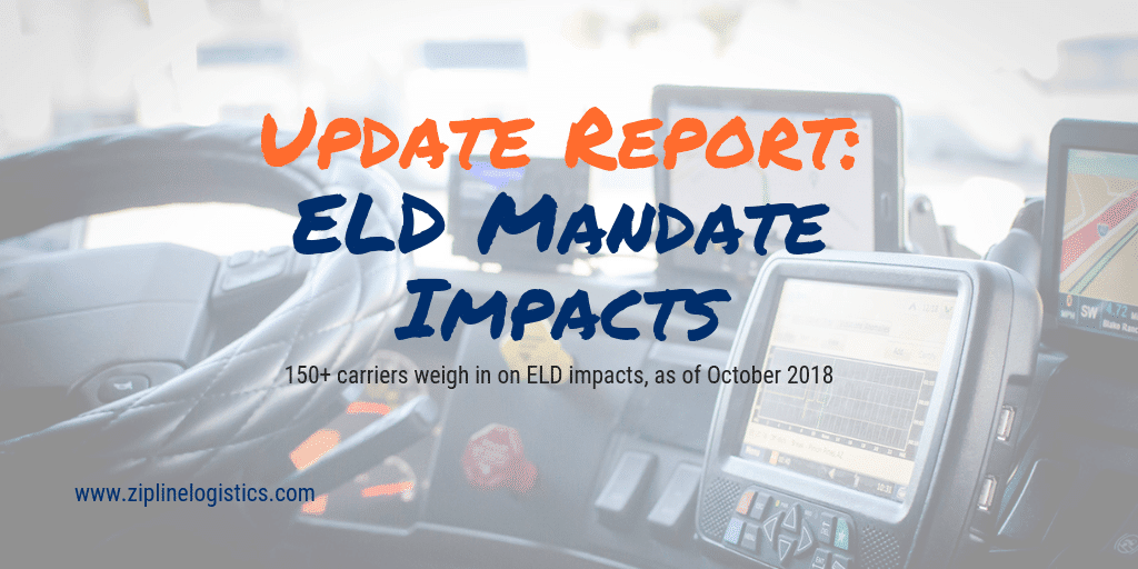 ELD Mandate Report; October 2018 Update