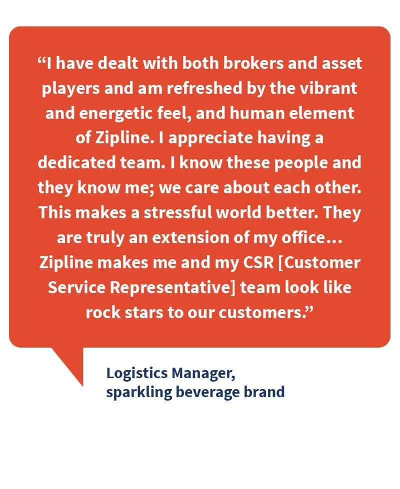 Zipline Logistics Improves On-Time Delivery Quote from Logistics Manager